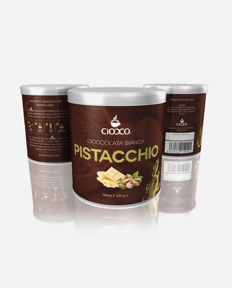 Ciocco Pistacchio  250 g - Dose Trinkschokolade - Weiße Schokolade und Pistazie