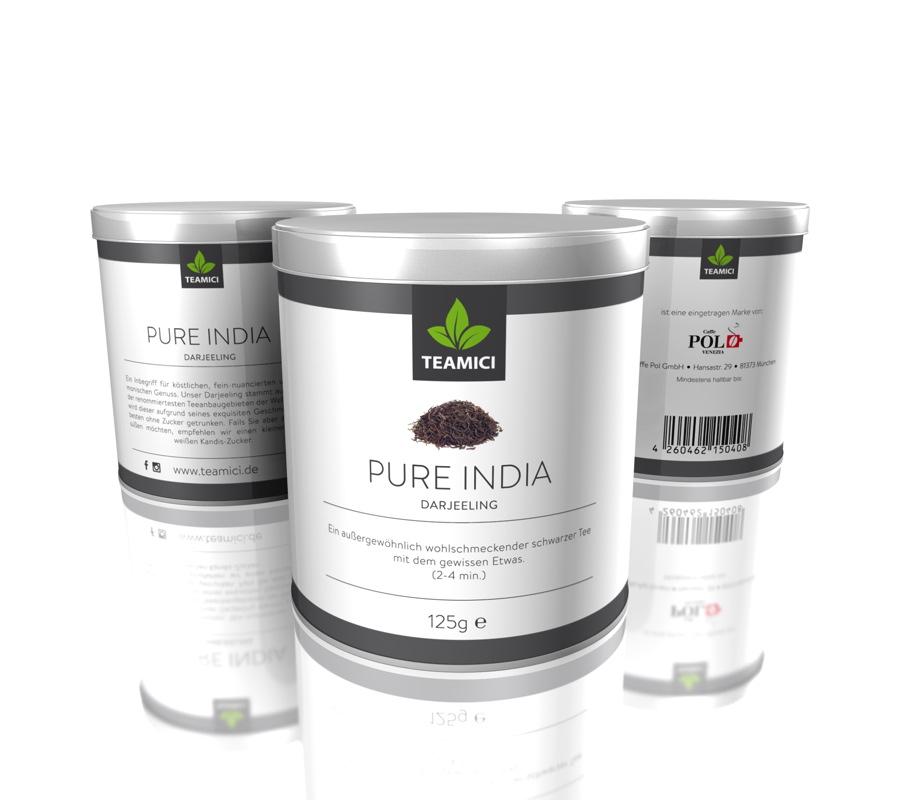 TEAMICI PURE INDIA - Darjeeling - Schwarztee - Tee