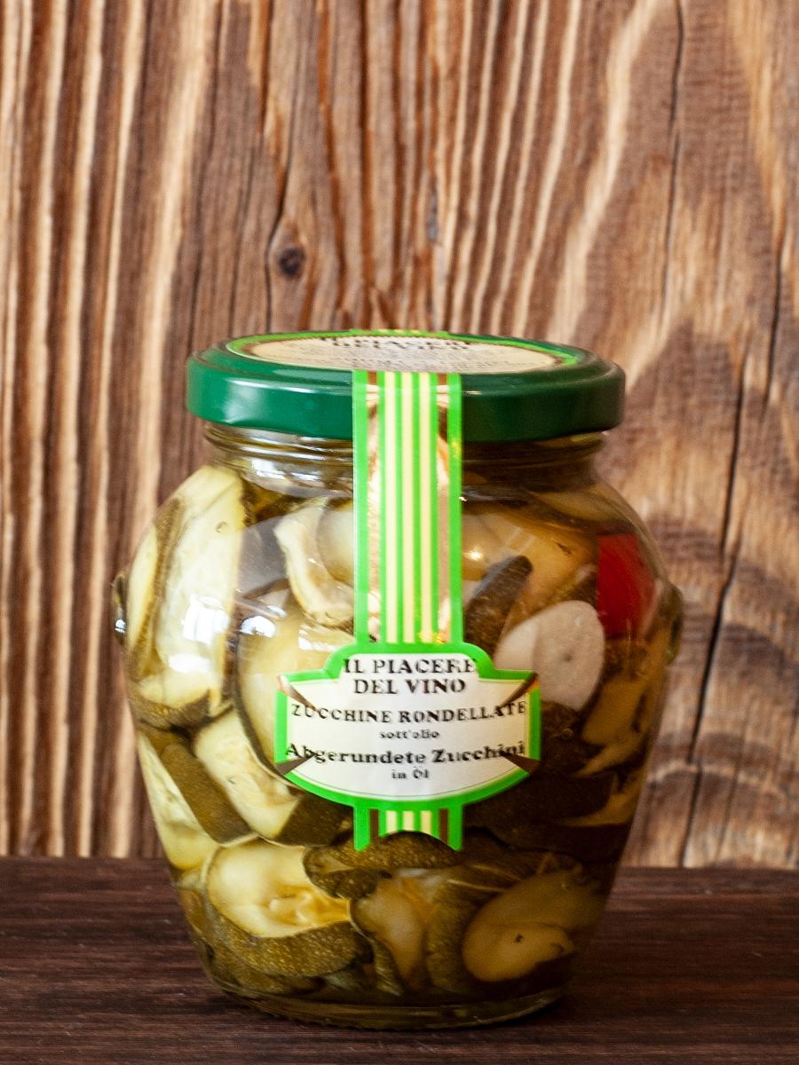 Il Piacere del Vino - eingelegte Zucchini - Zucchini rondellate - Antipasto
