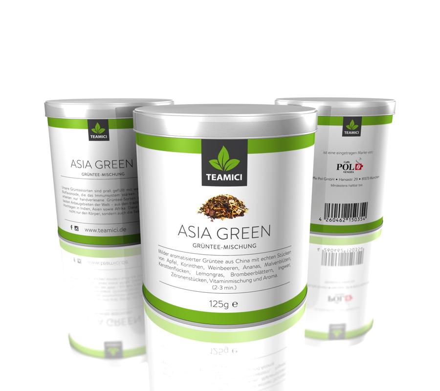 TEAMICI ASIA GREEN - Grüntee-Mischung - Tee